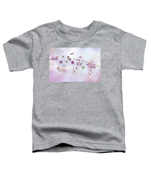 Cherry Blossoms In Pastel Pink Toddler T-Shirt