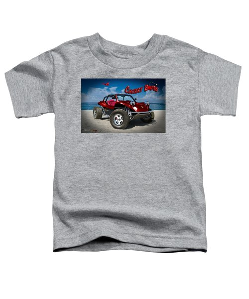 Toddler T-Shirt featuring the digital art Cherry Bomb by Doug Schramm