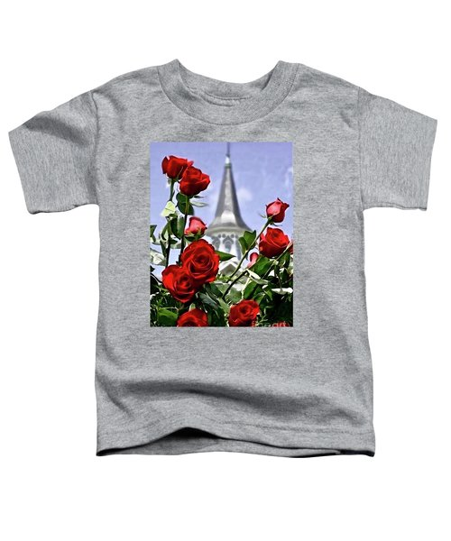 Churchill Downs Spire And Roses Toddler T-Shirt