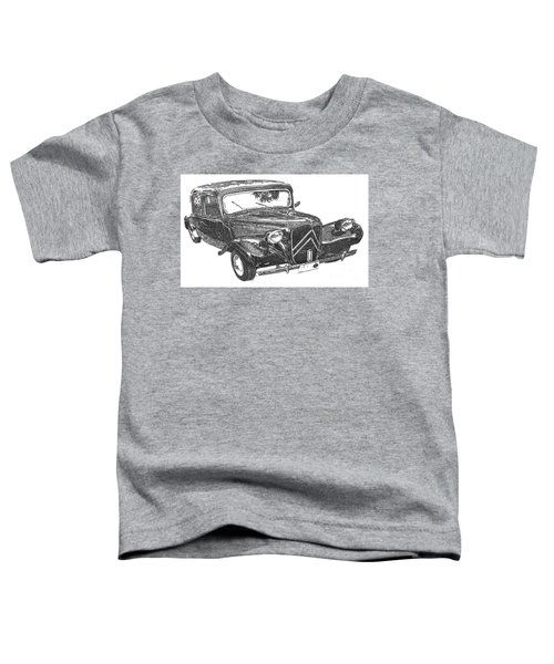 Citroen 11b 1956, Classic Car, Ink Drawing, Office Decoration Toddler T-Shirt