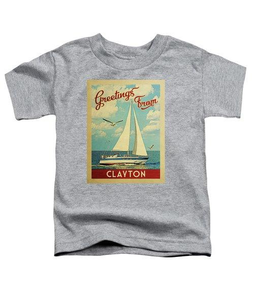 Clayton Sailboat Vintage Travel Toddler T-Shirt