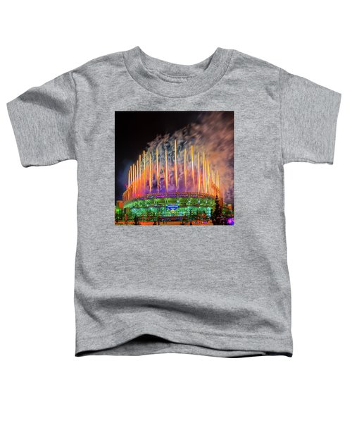 Cleveland Baseball Fireworks Awesome Toddler T-Shirt