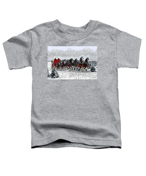 Clydesdales Hitch In Snow Toddler T-Shirt