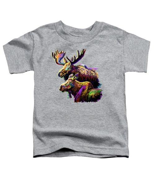 Colorful Moose Toddler T-Shirt