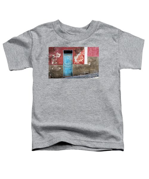 Colorful Wall With Blue Door Toddler T-Shirt