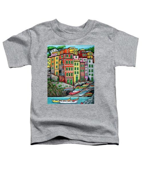 Colours Of Riomaggiore Cinque Terre Toddler T-Shirt