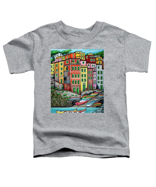 Colours Of Riomaggiore Cinque Terre Toddler T-Shirt
