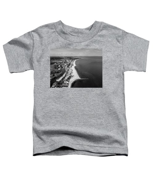 Connecticut's Fairfield Beaches Aerial Toddler T-Shirt