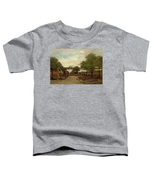 Construction Of An Elevated Railway Bridge Over The Cours De Vincennes, 1888 Toddler T-Shirt