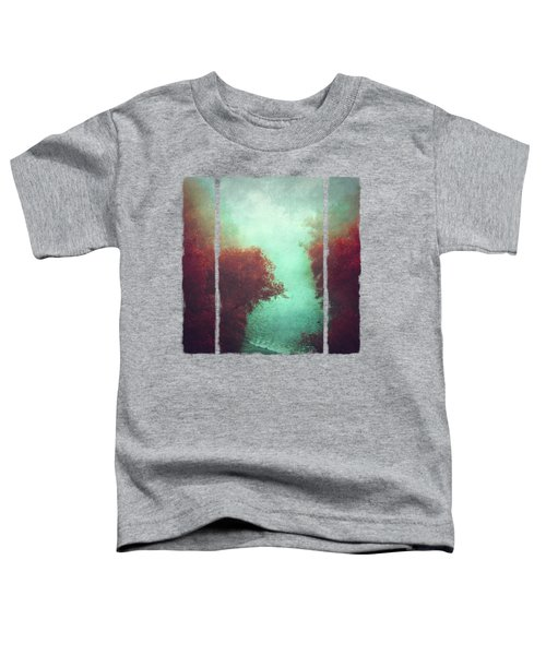 Copper Trees And River  In Mist Toddler T-Shirt