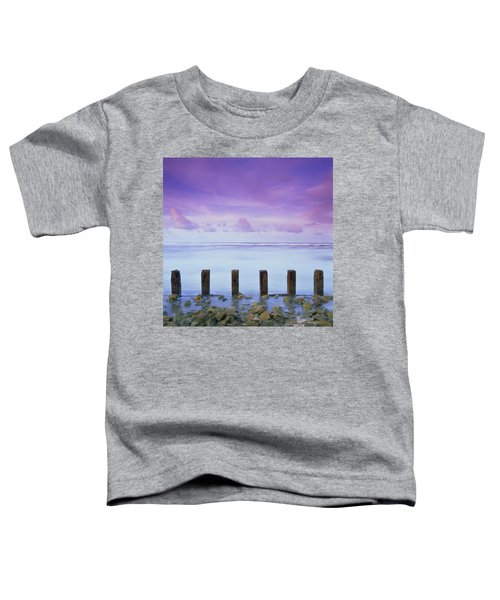Cotton Candy Skies Over The Sea Toddler T-Shirt
