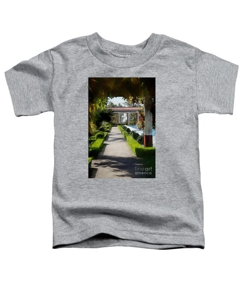 Painted Texture Courtyard Landscape Getty Villa California  Toddler T-Shirt