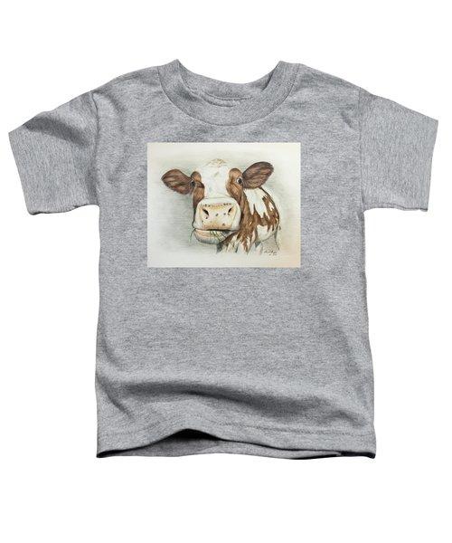 Cow Eating Breakfast Toddler T-Shirt