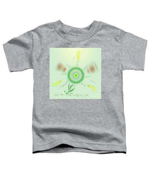 Crazy Spinning Flower Toddler T-Shirt