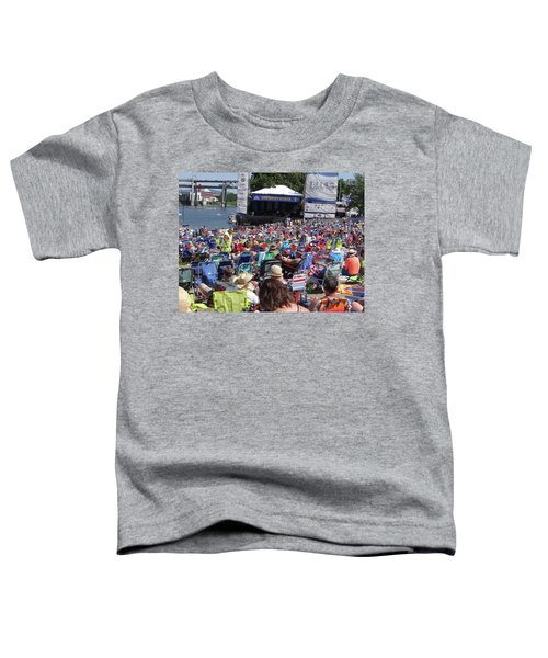 Crowd Enjoys Listening On A Sunny Day  Toddler T-Shirt