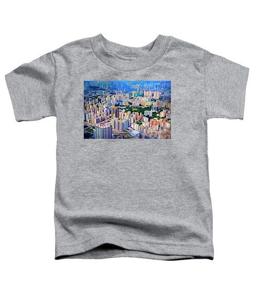 Crowded Hong Kong Abstract Toddler T-Shirt