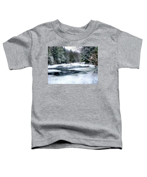 Cucumber Run In Winter Toddler T-Shirt