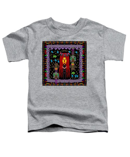 Demonic Madonna With Rose Skulls And Baby Bears With Hats Toddler T-Shirt