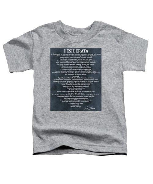 Desiderata Blue Canvas Original Toddler T-Shirt