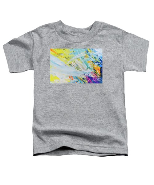 Detail Of Brush Strokes Of Random Colors To Use As Background An Toddler T-Shirt