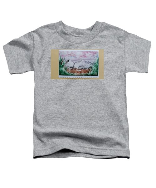 Distant Impressionistic Mountains Toddler T-Shirt