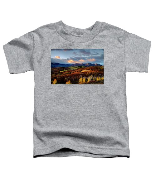 Dramatic Sunrise In The San Juan Mountains Of Colorado Toddler T-Shirt