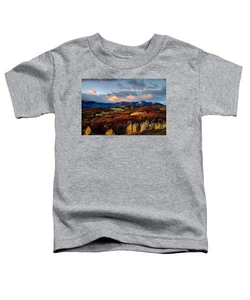 Dramatic Sunrise In The San Juan Mountains Of Colorado Toddler T-Shirt