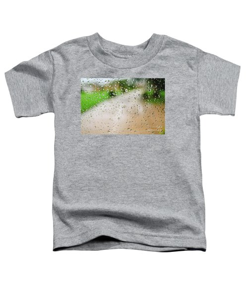 Drops Of Rain On An Autumn Day On A Glass. Toddler T-Shirt