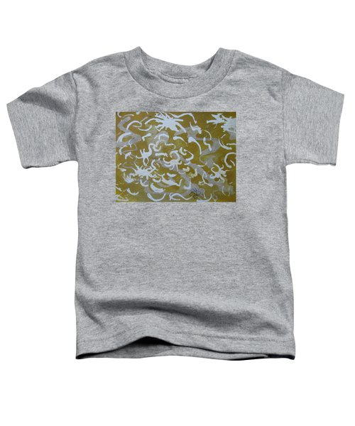 Dull Yellow With Masking Fluid Toddler T-Shirt