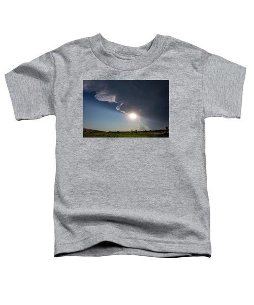 Dying Nebraska Thunderstorms At Sunset 002 Toddler T-Shirt