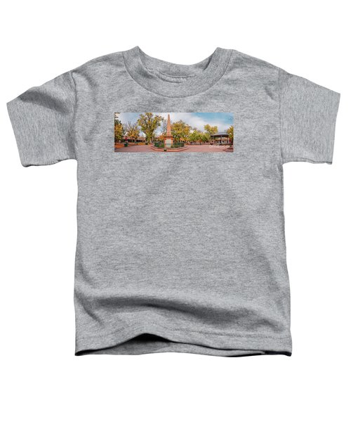 Early Morning Panorama Of Santa Fe Plaza - New Mexico Land Of Enchantment Toddler T-Shirt