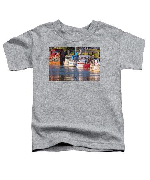Evening At The Harbor Toddler T-Shirt