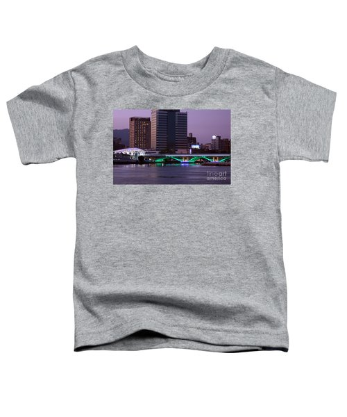 Evening View Of The Love River And Illuminated Bridge Toddler T-Shirt