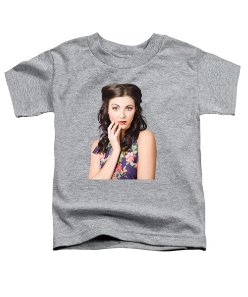 Face Of A Female Beauty With Flawless Makeup  Toddler T-Shirt
