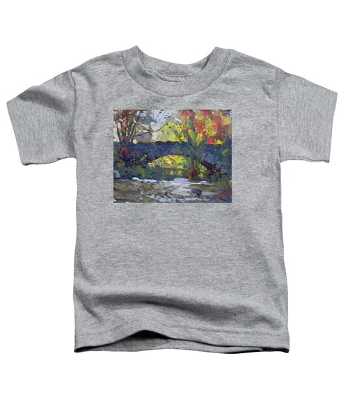 Fall At Stone Bridge In Goat Island Toddler T-Shirt
