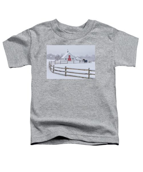 Farm In The Snow Toddler T-Shirt