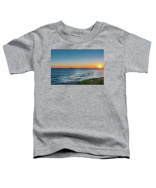 Ferry Going Into Sunset Toddler T-Shirt