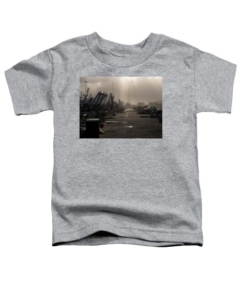 Fishing Boats Moored In The Harbor Toddler T-Shirt
