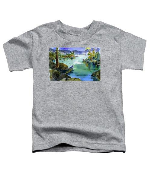 Fishing Lake Tahoe Toddler T-Shirt