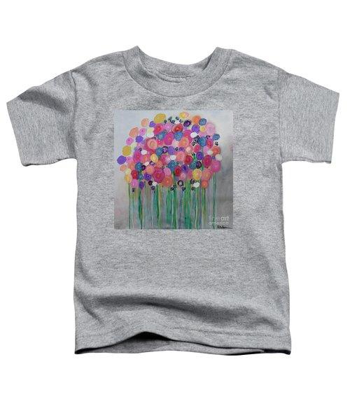 Floral Balloon Bouquet Toddler T-Shirt