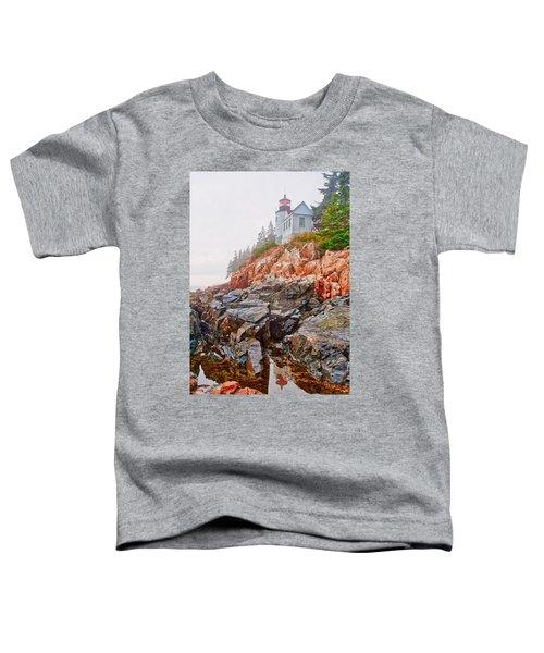 Foggy Bass Harbor Lighthouse Toddler T-Shirt