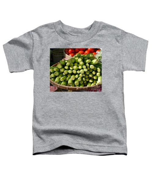 Fresh Baby Corn And Ripe Tomatoes Toddler T-Shirt