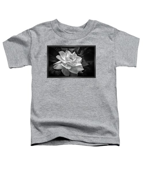 Gardenia In Black And White Toddler T-Shirt