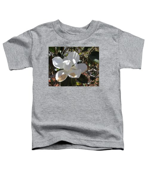 Gigantic White Magnolia Blossoms Blowing In The Wind Toddler T-Shirt