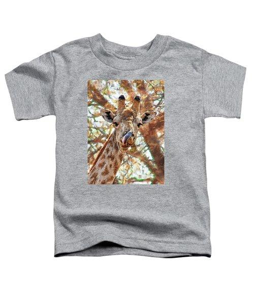 Giraffe Says Yum Toddler T-Shirt