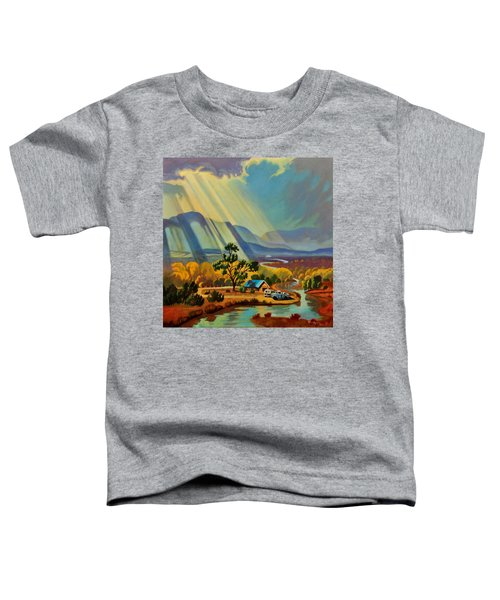 God Rays On A Blue Roof Toddler T-Shirt