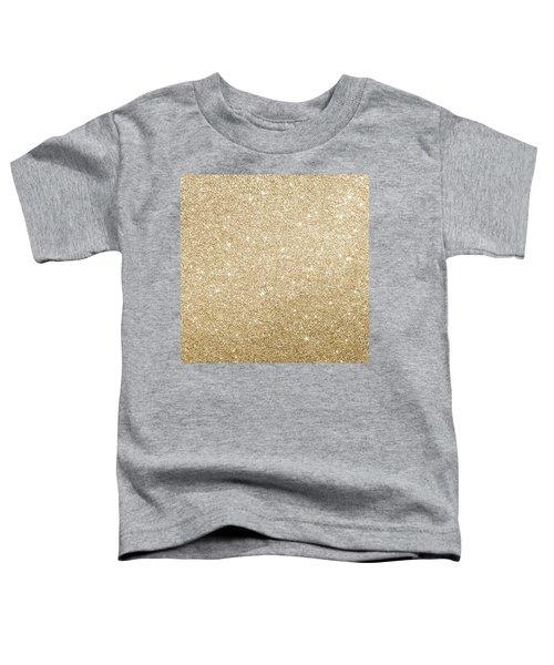 Gold Glitter Toddler T-Shirt