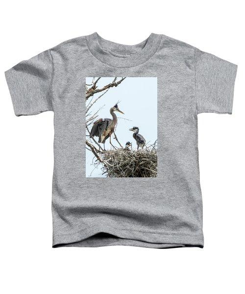Great Blue Heron Rookery 1 Toddler T-Shirt