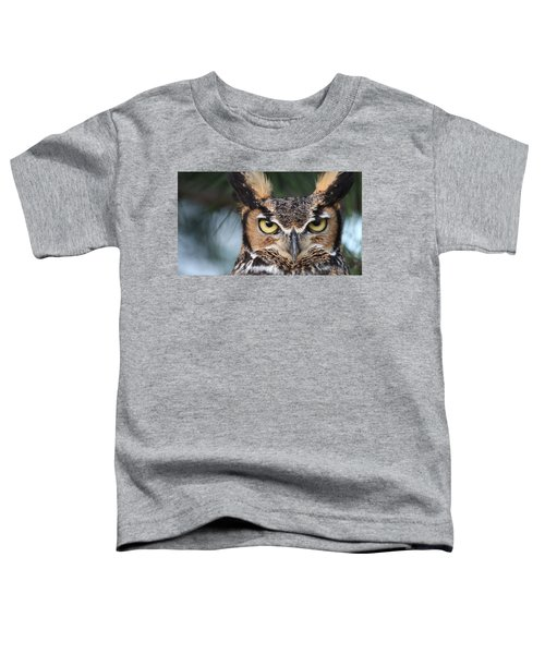 Great Horned Owl Eyes 51518 Toddler T-Shirt