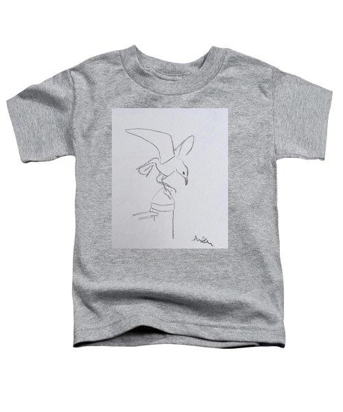 Gull On Pier Toddler T-Shirt